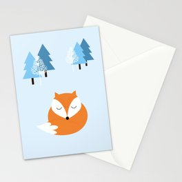 Sweet dreams with fox Stationery Cards
