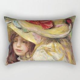 """Auguste Renoir """"Les deux soeurs"""" Rectangular Pillow"""