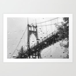 Rainy Bridge Art Print