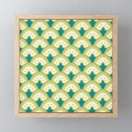 Fan Pattern Chartreuse Framed Mini Art Print