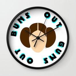 Buns Out Guns Out Wall Clock