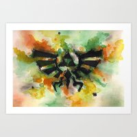 triforce Art Prints featuring Triforce by Fernanda Frasson