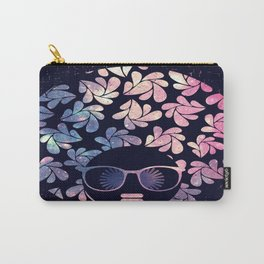 Afro Diva Mauve Teal Galaxy Carry-All Pouch