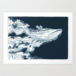 Prichard Whale Art Print