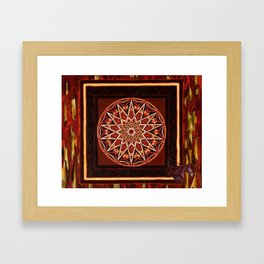 Madrone Mandala Framed Art Print