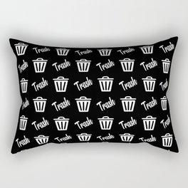 trash can pattern Rectangular Pillow