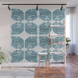Bluefish Fish India Block Print Boho Wall Mural