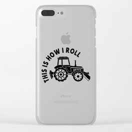 Tractor Farmer Agriculturer Farm Farming Gift Idea Clear iPhone Case