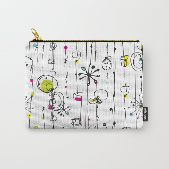Quirky Icons Carry-All Pouch