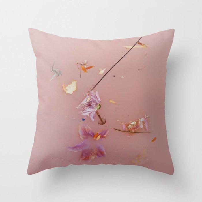 Pink Bath Photoshoot Throw Pillow