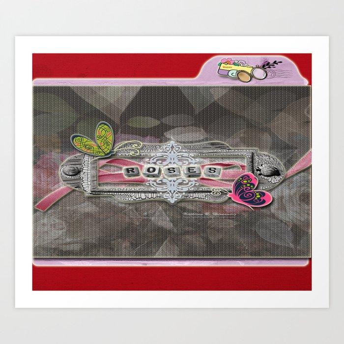 Rosas-Roses 2 Art Print