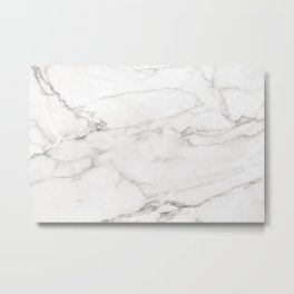 White Marble 006 Metal Print