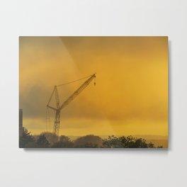 Foggy Portland Sunset (1) Metal Print