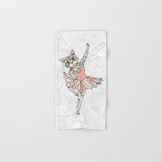Cat Ballerina Tutu Hand & Bath Towel