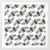 bees Art Prints featuring bees by Huntleigh