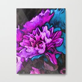 Flower of Lavender and Pink with Blue Flowers Metal Print