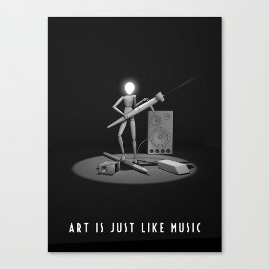 art is just like music Canvas Print