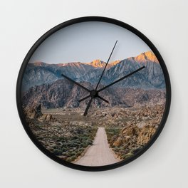 Road to the Mountains Wall Clock