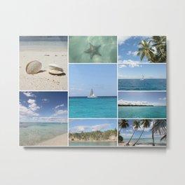Scenic Caribbean Collage Metal Print