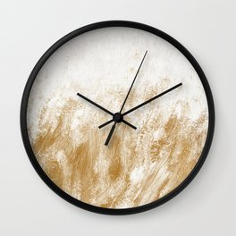 Seamless Spring Gold Backgrounds Wall Clock
