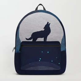 Wolf and moon Backpack