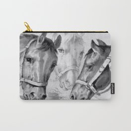 Horses Feeding Carry-All Pouch