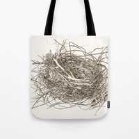 the wire Tote Bags featuring Wire Nest by Sam Pash