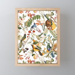 Floral and Birds XXXII Framed Mini Art Print