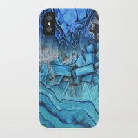 geode iPhone & iPod Cases featuring Azul Geode by Likuidgold
