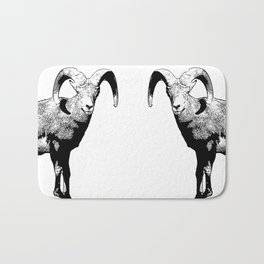 Ram Stamp  Bath Mat