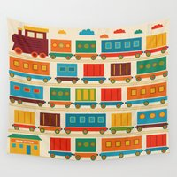 train Wall Tapestries featuring Train by Kakel