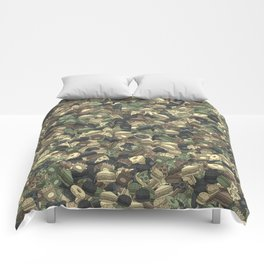 Fast food camouflage Comforters