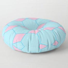 Pink & Blue Octagon Floor Pillow