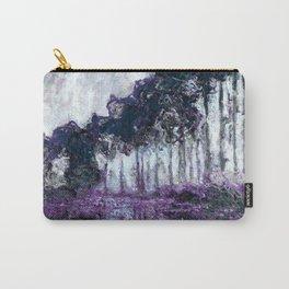 Monet : Poplars Violet Dark Blue Carry-All Pouch