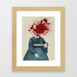 Lady Insomnia Framed Art Print