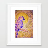 parrot Framed Art Prints featuring PARROT  by MAGIC DUST