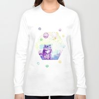 space cat Long Sleeve T-shirts featuring Space Cat! by Colorful Simone