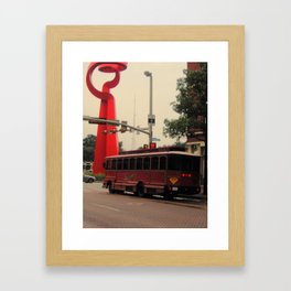 Friendship and a Trolley in San Antonio Framed Art Print