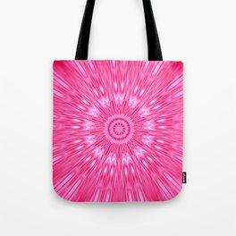 Pink Mandala Explosion Tote Bag