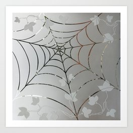 Glass Cobweb Art Print