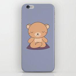 Kawaii Cute Yoga Bear iPhone Skin