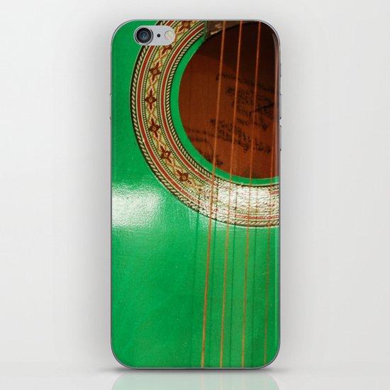 Green guitar iPhone & iPod Skin