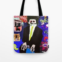 basquiat Tote Bags featuring My Basquiat by Robert Morris