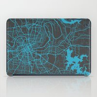 nashville iPad Cases featuring Nashville by Map Map Maps