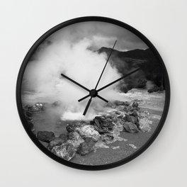 Hot spring Wall Clock