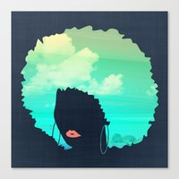 afro Canvas Prints featuring Afro by Studio Samantha