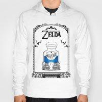 the legend of zelda Hoodies featuring Zelda legend - Blue potion  by Art & Be