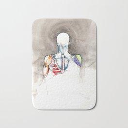Non-apate, male back anatomy, NYC artist Bath Mat