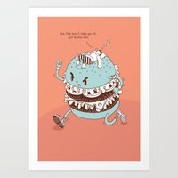 burger Art Prints featuring Burger by BIGMOUTH