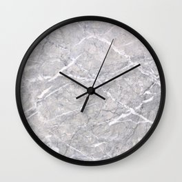 Through the Branches Grey Marble Wall Clock